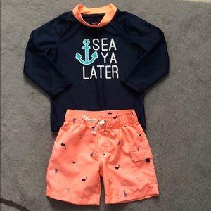 Carter's swim suit 2 piece